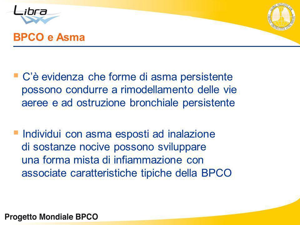 Cè evidenza che forme di asma persistente possono condurre a rimodellamento delle vie aeree e ad ostruzione bronchiale persistente Individui con asma