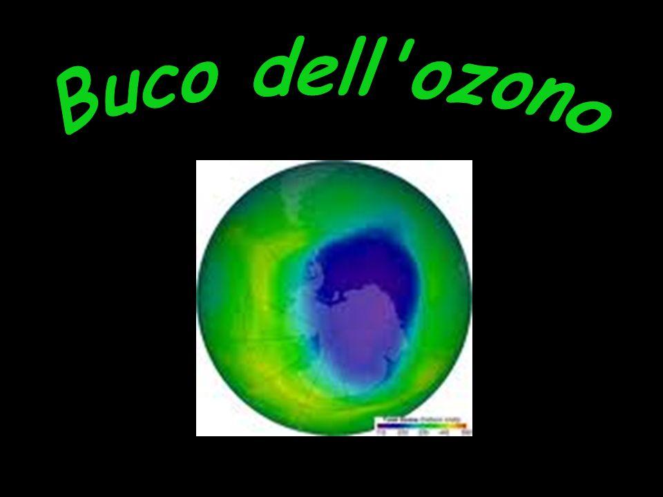 12 Il meccanismo della reazione è il seguente: CFC + raggi UV Cl + FC Cl + O3 ClO + O2 ClO + O3 ClO2 + O2 ClO2 + raggi UV Cl + O2 Il monoatomico cloro si rigenera alla fine del ciclo, quindi può ripetere la sequenza di reazioni e reagire con altre molecole di ozono prima di disperdersi.