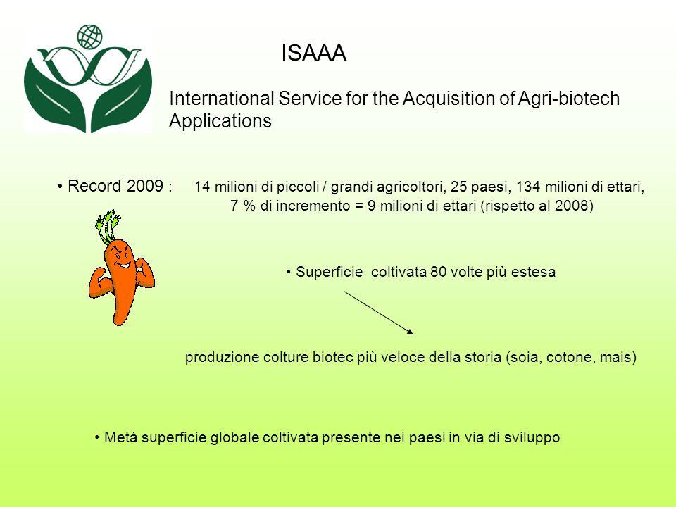 Cina : - aumento produzione riso principale coltura mondiale (110 milioni di famiglie risicoltrici, 250 in Asia) 1 miliardo di beneficiari!!.