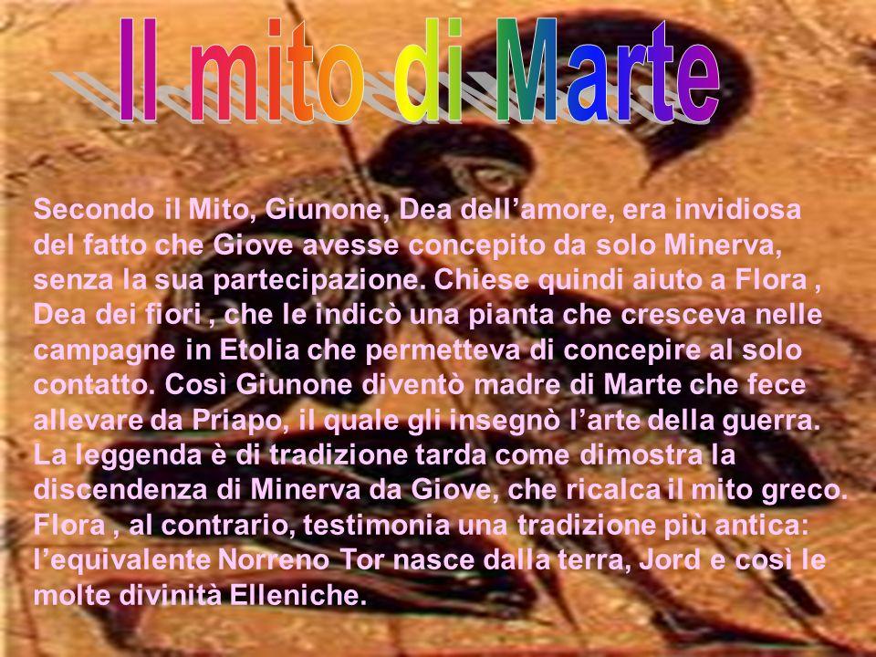 Secondo il Mito, Giunone, Dea dellamore, era invidiosa del fatto che Giove avesse concepito da solo Minerva, senza la sua partecipazione. Chiese quind