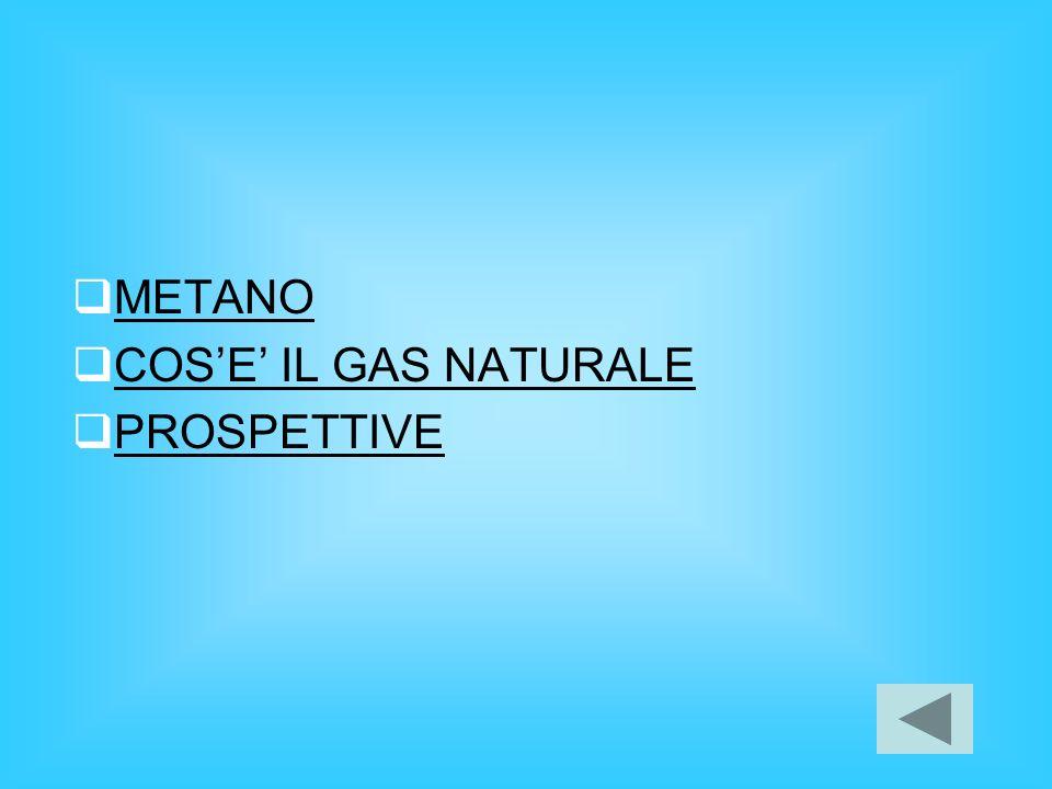 METANO COSE IL GAS NATURALE PROSPETTIVE