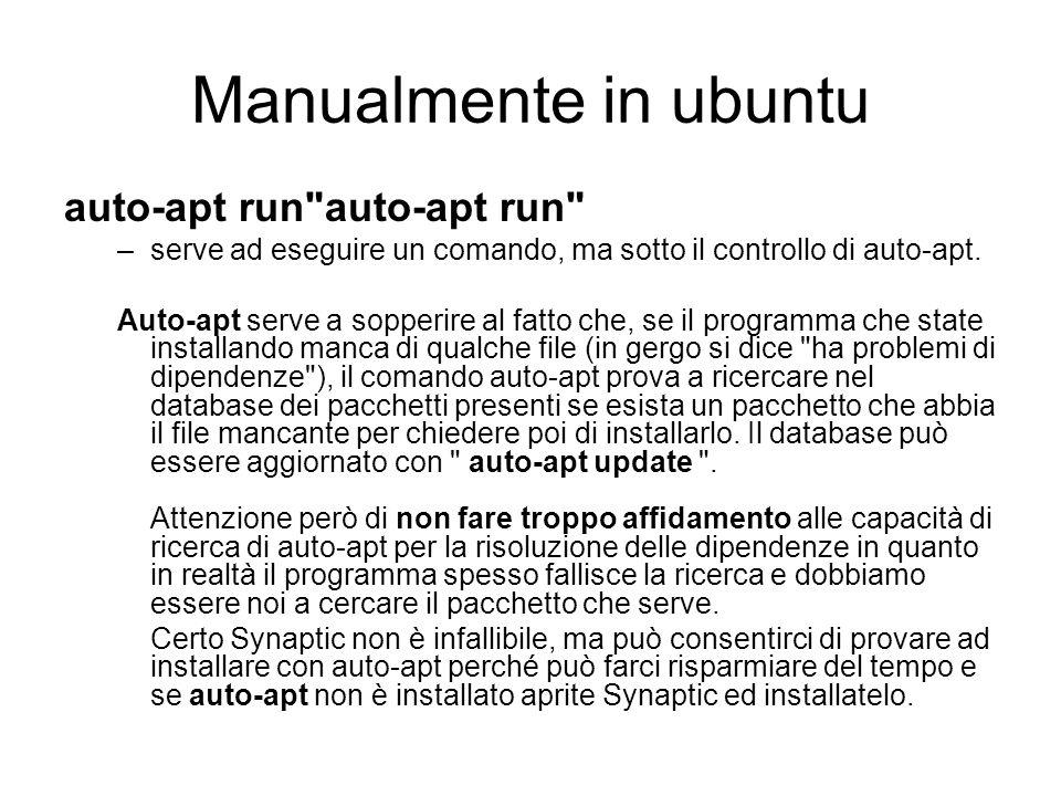 Manualmente in ubuntu auto-apt run