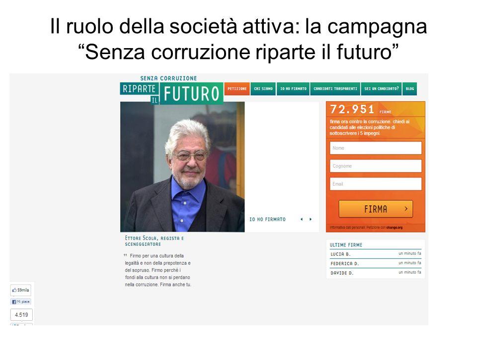 Il ruolo della società attiva: la campagna Senza corruzione riparte il futuro