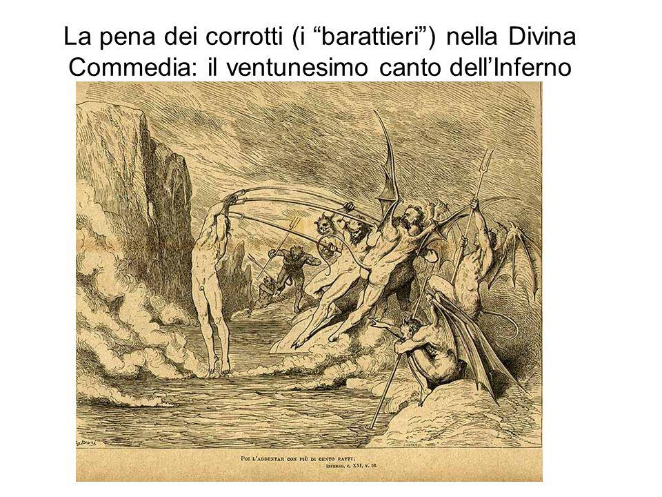 La pena dei corrotti (i barattieri) nella Divina Commedia: il ventunesimo canto dellInferno