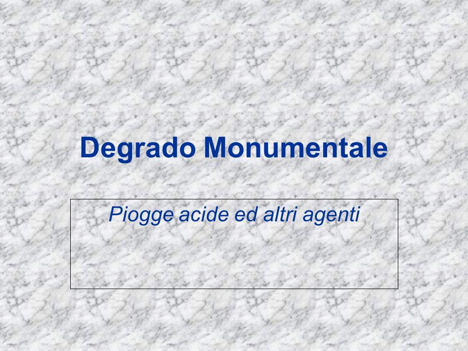 Degrado Monumentale Piogge acide ed altri agenti