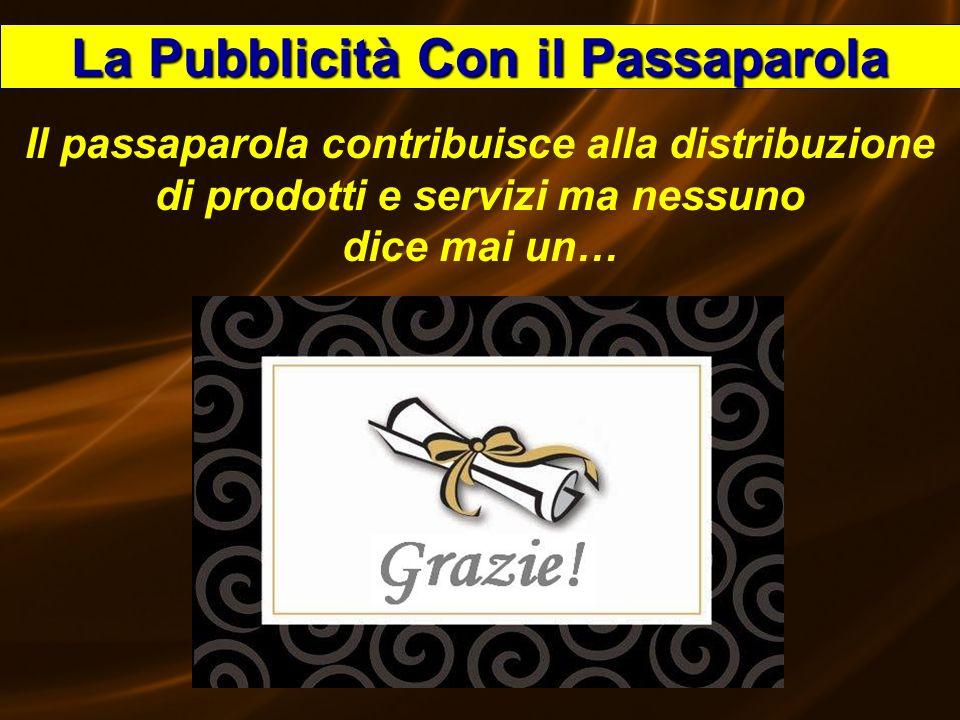 Speedy53 La Pubblicità Con il Passaparola Il passaparola contribuisce alla distribuzione di prodotti e servizi ma nessuno dice mai un… GRAZIE