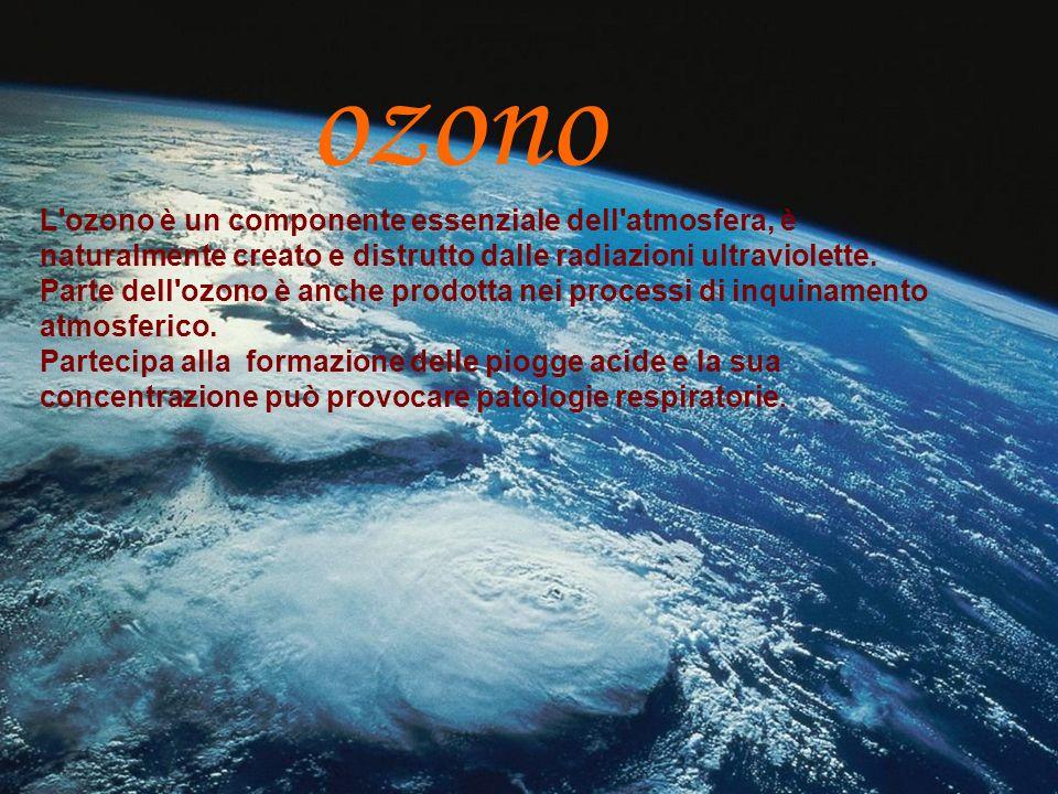 ozono L'ozono è un componente essenziale dell'atmosfera, è naturalmente creato e distrutto dalle radiazioni ultraviolette. Parte dell'ozono è anche pr