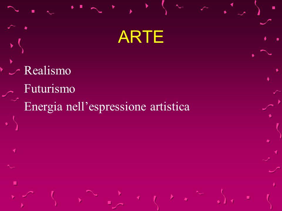 ARTE Realismo Futurismo Energia nellespressione artistica