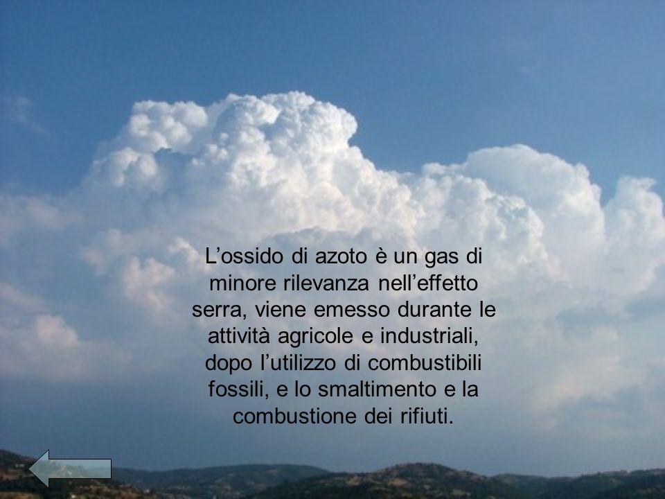Lossido di azoto è un gas di minore rilevanza nelleffetto serra, viene emesso durante le attività agricole e industriali, dopo lutilizzo di combustibili fossili, e lo smaltimento e la combustione dei rifiuti.