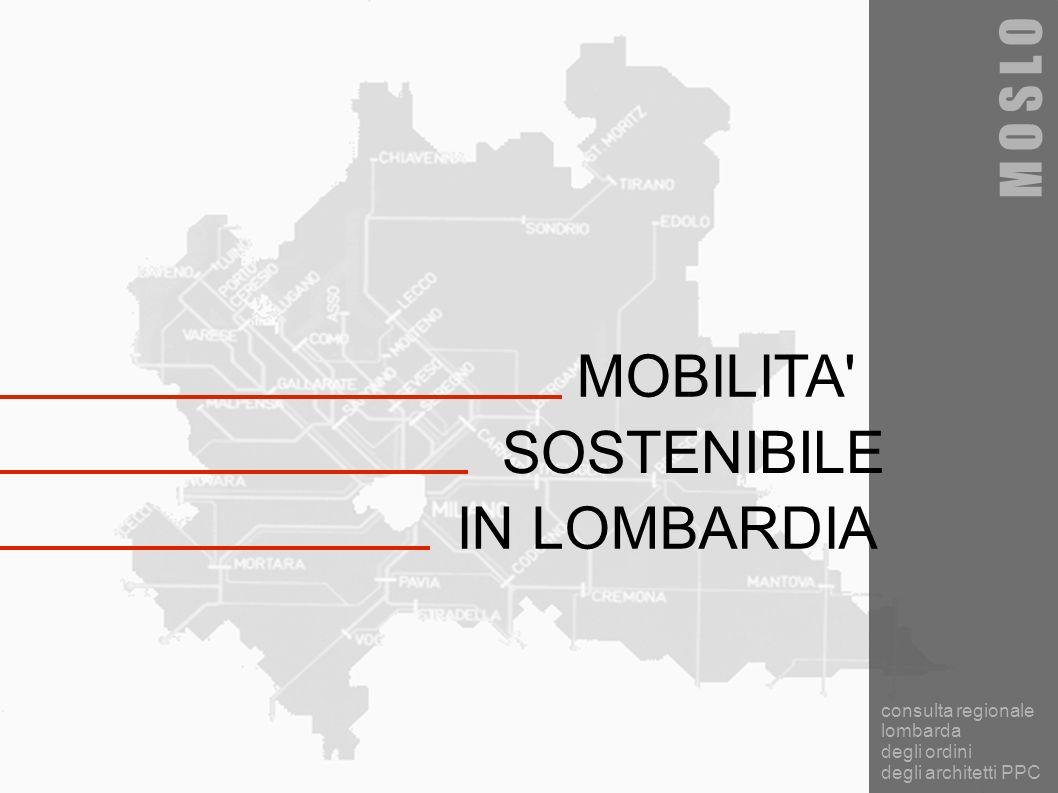 MOBILITA' SOSTENIBILE M O S L O consulta regionale lombarda degli ordini degli architetti PPC IN LOMBARDIA