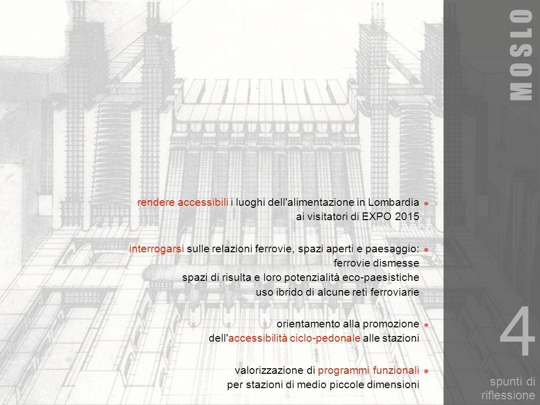 spunti di riflessione M O S L O valorizzazione di programmi funzionali per stazioni di medio piccole dimensioni 4 orientamento alla promozione dell'ac
