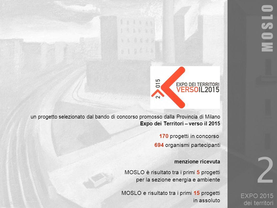 EXPO 2015 dei territori un progetto selezionato dal bando di concorso promosso dalla Provincia di Milano Expo dei Territori – verso il 2015 170 proget