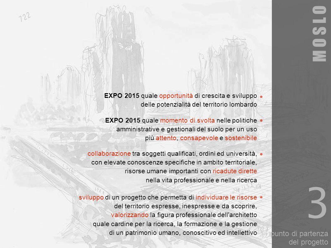 punto di partenza del progetto EXPO 2015 quale opportunità di crescita e sviluppo delle potenzialità del territorio lombardo sviluppo di un progetto c
