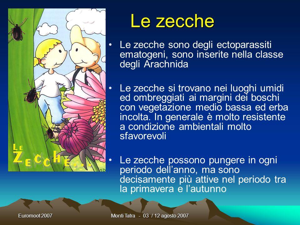 Euromoot 2007Monti Tatra - 03 / 12 agosto 2007 Tutto questo non deve spaventare e creare allarmismi inutili !!!!!! Le precauzioni vanno prese perché v