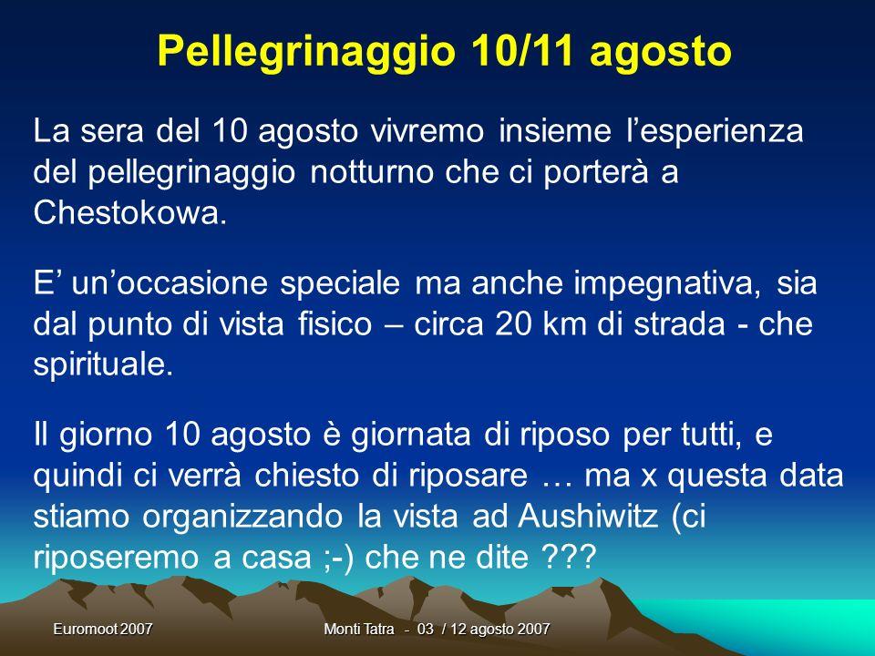 Euromoot 2007Monti Tatra - 03 / 12 agosto 2007 Forza, ora che sappiamo cosa fare.. Se le guardiamo bene … in fondo sono anche graziose !!!