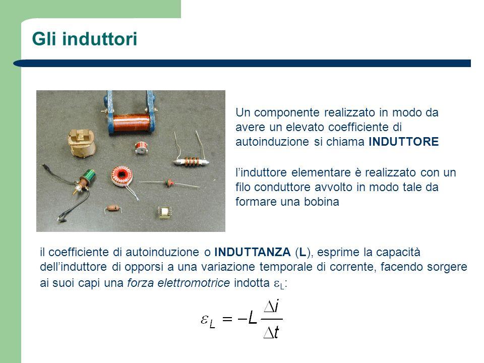 Gli induttori Un componente realizzato in modo da avere un elevato coefficiente di autoinduzione si chiama INDUTTORE linduttore elementare è realizzat