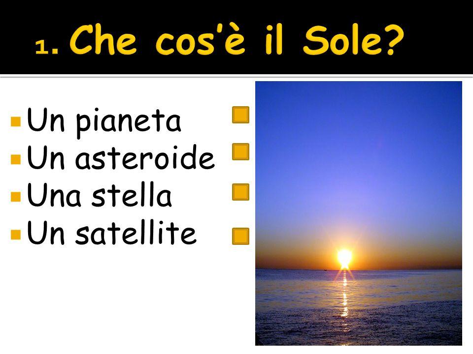 Un pianeta Un asteroide Una stella Un satellite