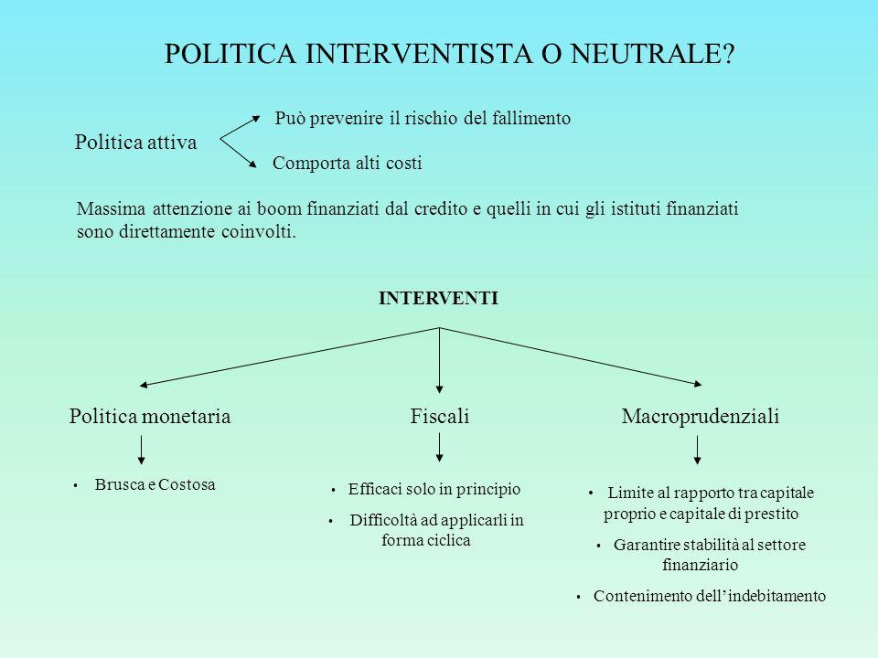 POLITICA INTERVENTISTA O NEUTRALE.