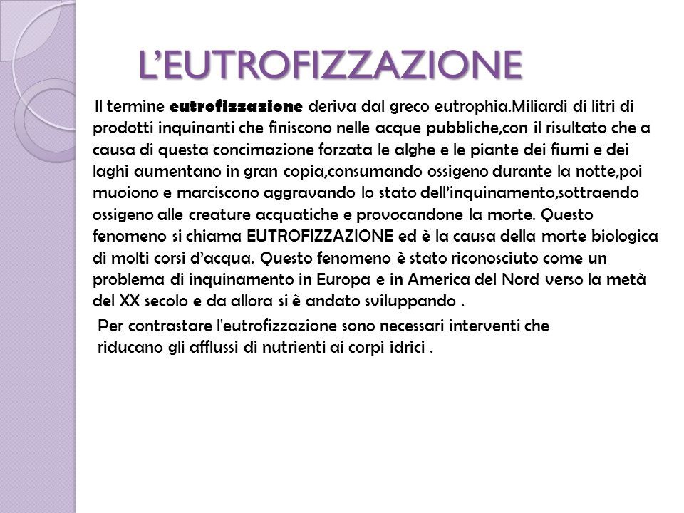 Leutrofizzazione