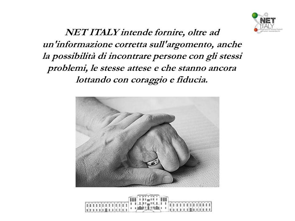 NET ITALY intende fornire, oltre ad un'informazione corretta sull'argomento, anche la possibilità di incontrare persone con gli stessi problemi, le st