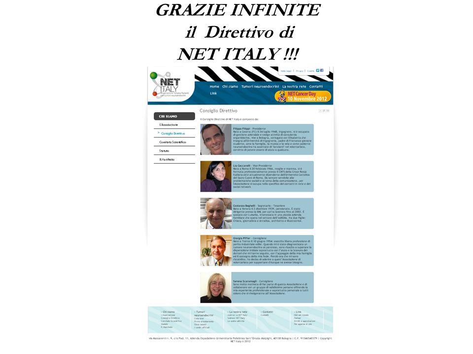 GRAZIE INFINITE il Direttivo di NET ITALY !!!