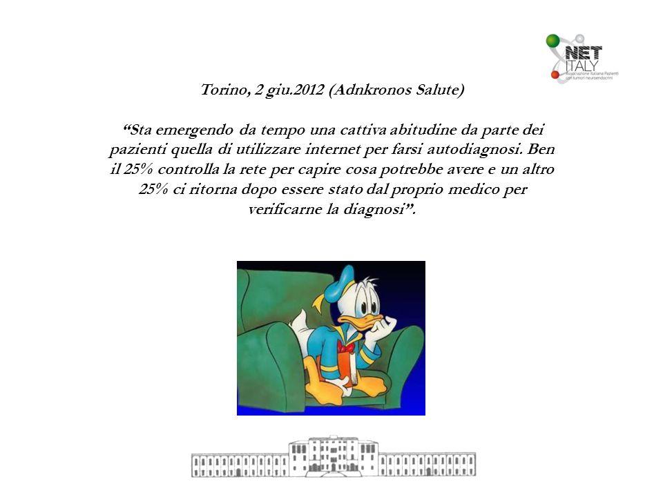 Torino, 2 giu.2012 (Adnkronos Salute) Sta emergendo da tempo una cattiva abitudine da parte dei pazienti quella di utilizzare internet per farsi autod
