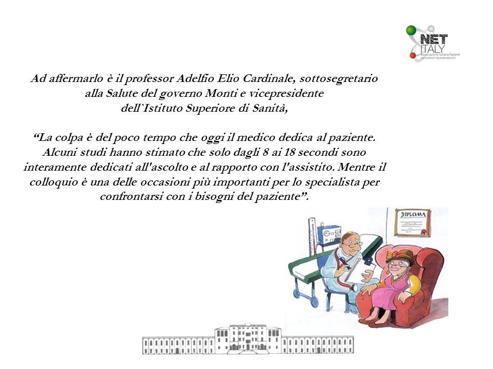 Ad affermarlo è il professor Adelfio Elio Cardinale, sottosegretario alla Salute del governo Monti e vicepresidente dell`Istituto Superiore di Sanità,