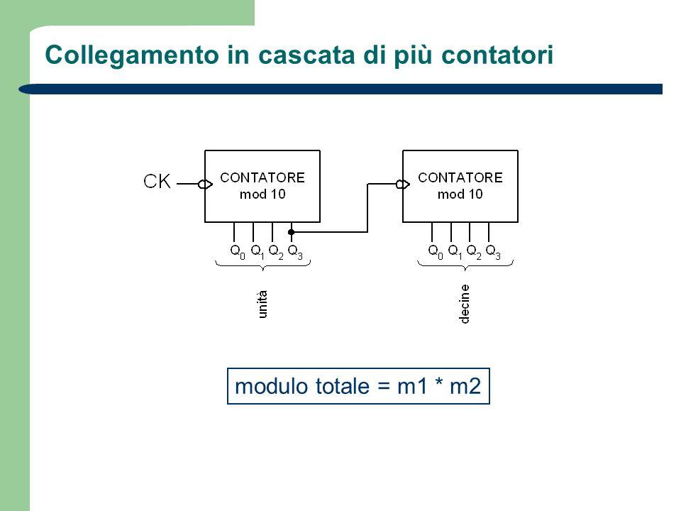 Collegamento in cascata di più contatori modulo totale = m1 * m2