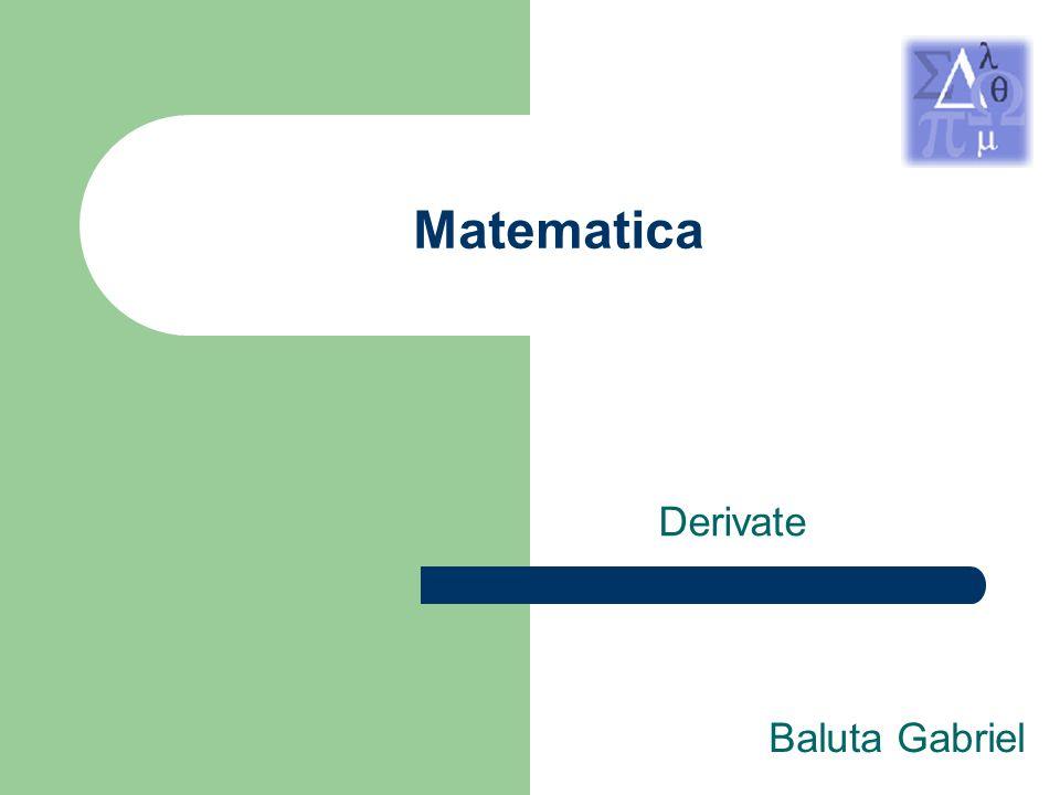 Matematica Derivate Baluta Gabriel
