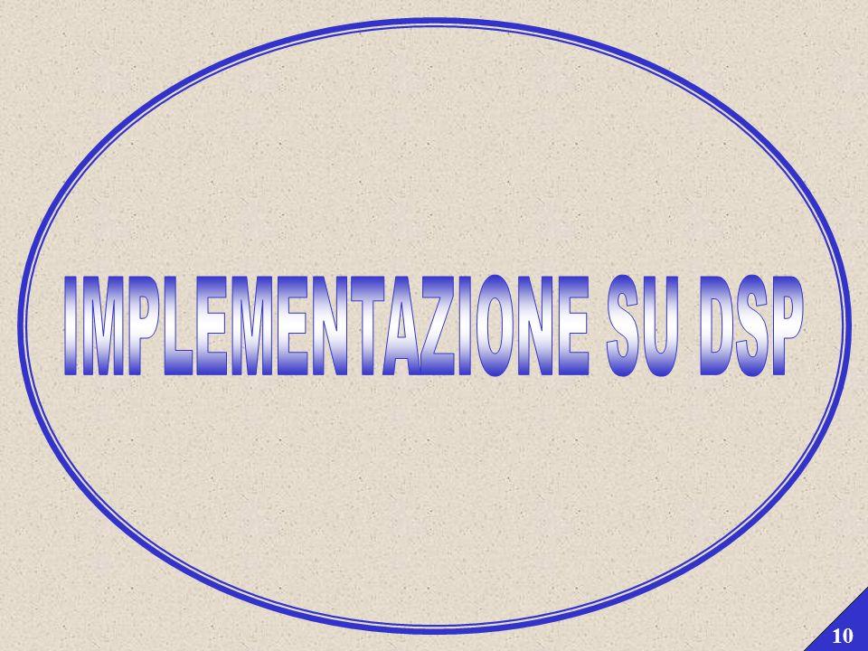 Filtraggio di segnali audio su piattaforma DSP mediante algoritmo di convoluzione FFT partizionata Parma, 29/04/2003 9 OVERLAP AND SAVE PARTIZIONATO (