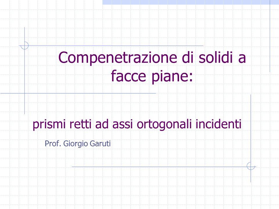 Compenetrazione di solidi a facce piane: Prof. Giorgio Garuti prismi retti ad assi ortogonali incidenti