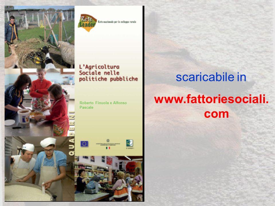 Roberto Finuola e Alfonso Pascale scaricabile in www.fattoriesociali. com