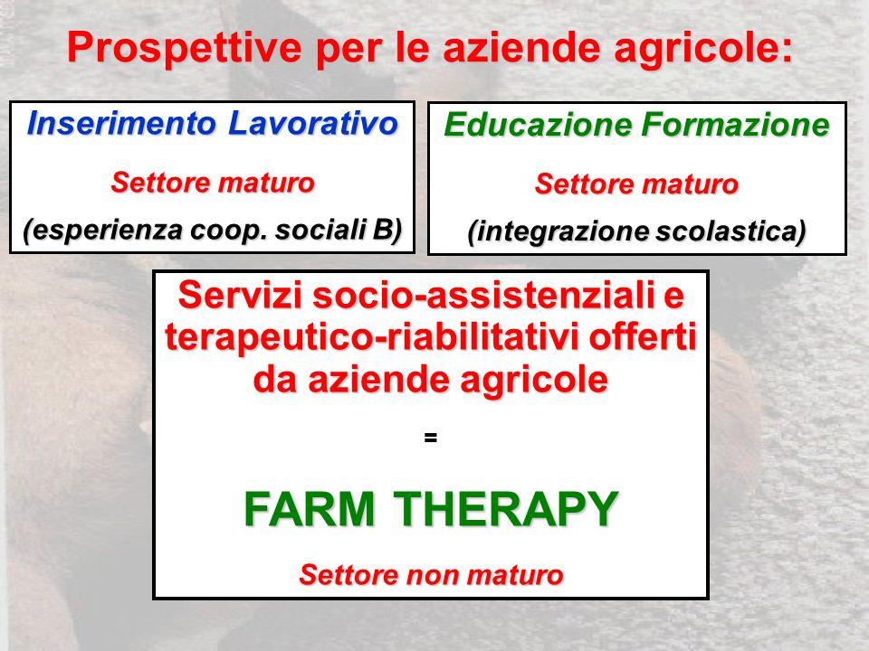 Prospettive per le aziende agricole: Inserimento Lavorativo Settore maturo (esperienza coop.