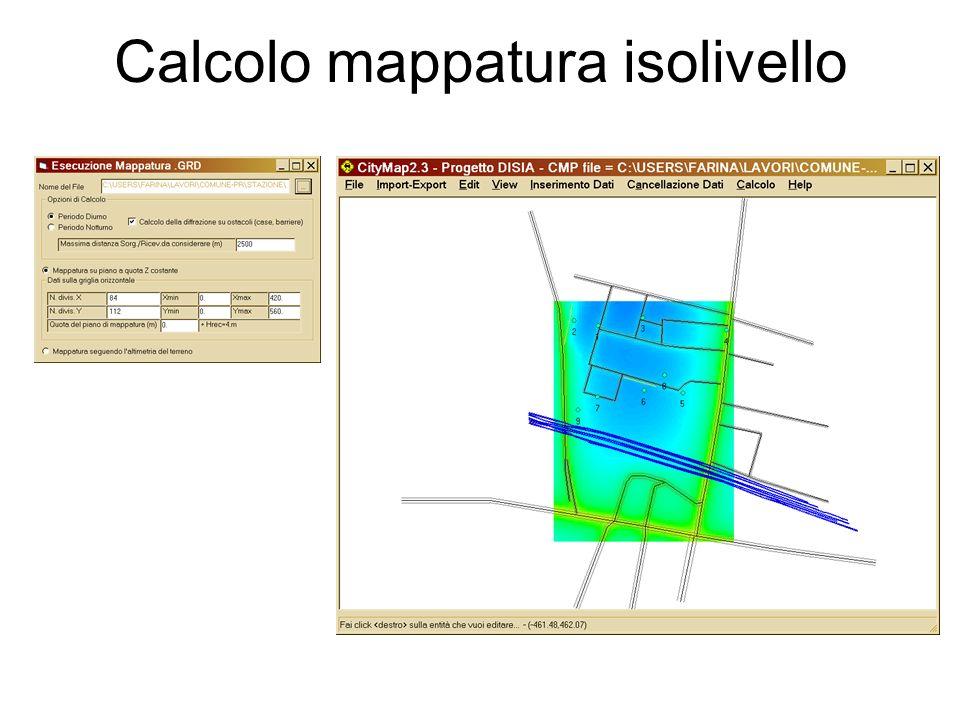 Calcolo mappatura isolivello
