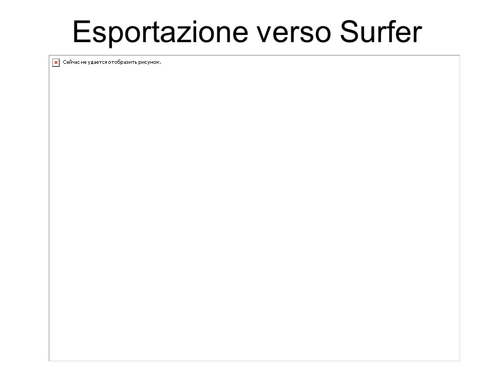Esportazione verso Surfer