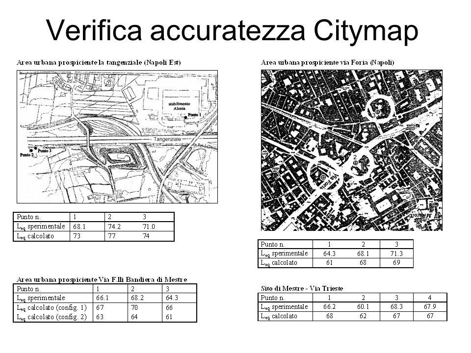 Verifica accuratezza Citymap