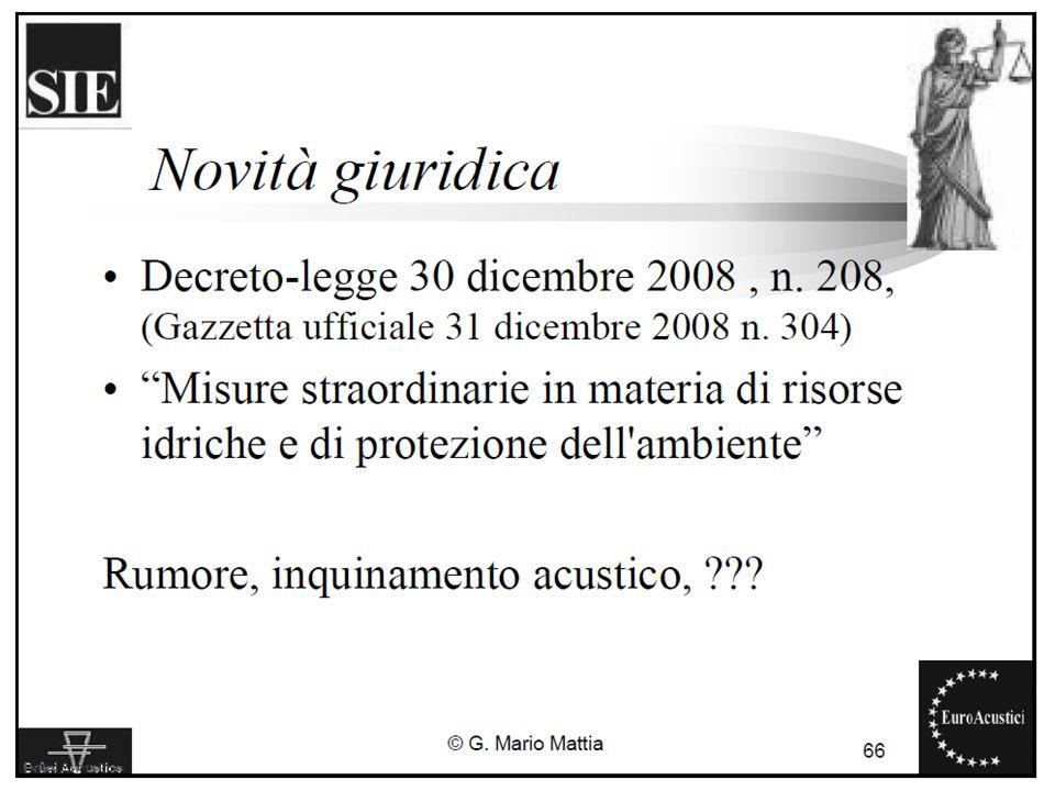 22/11/2010Legislazione sul rumore ambientale11