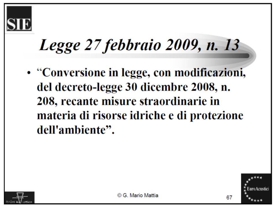 22/11/2010Legislazione sul rumore ambientale12