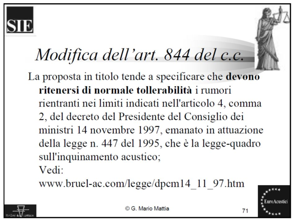 22/11/2010Legislazione sul rumore ambientale14