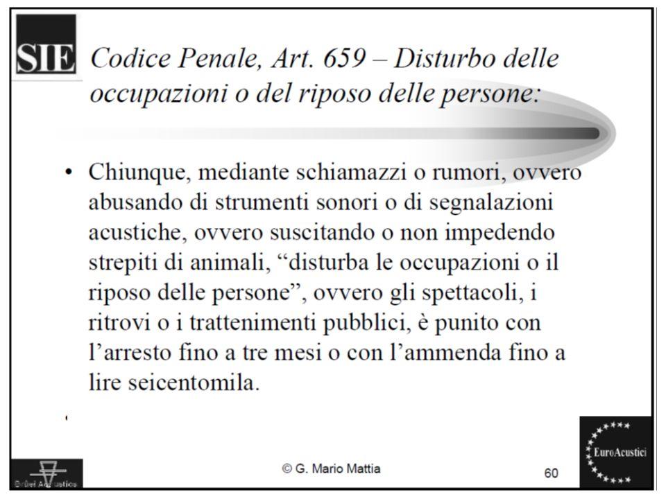 22/11/2010Legislazione sul rumore ambientale5