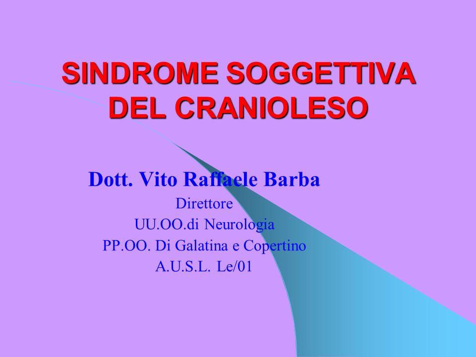 CORRELAZIONE Trauma-lesioni-sintomatologia SPESSO NON NON RISCONTRABILE RISCONTRABILE