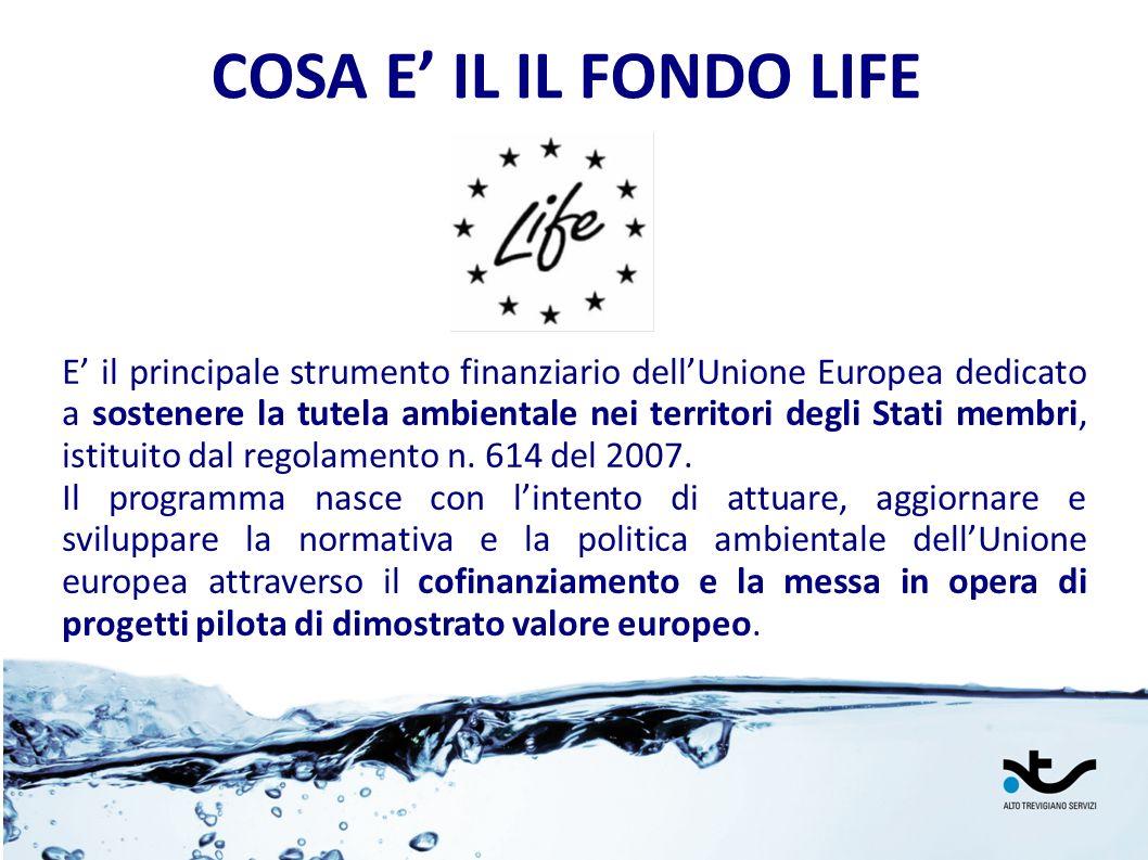 COSA E IL IL FONDO LIFE E il principale strumento finanziario dellUnione Europea dedicato a sostenere la tutela ambientale nei territori degli Stati m