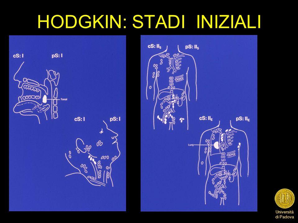 Università di Padova HODGKIN: STADI INIZIALI