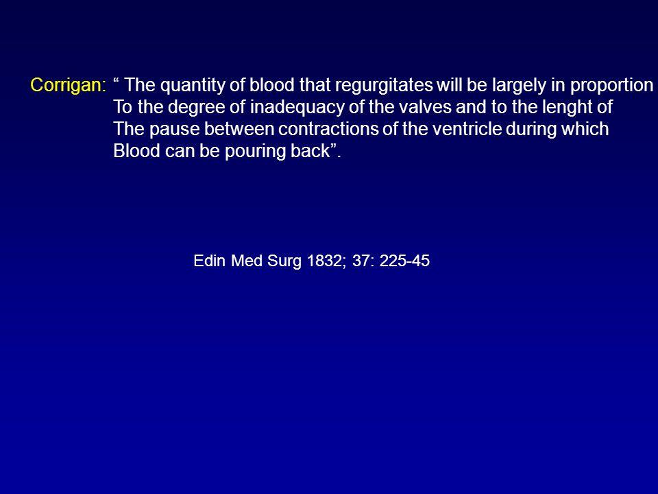 Fisiopatologia -Le dimensioni dellarea rigurgitante -Il gradiente pressorio diastolico aorta – ventricolo sinistro -La durata della diastole Influenzano lentità del volume di rigurgito E.