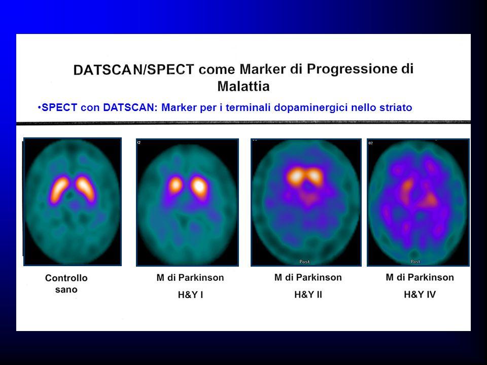 SPECT con DATSCAN: Marker per i terminali dopaminergici nello striato