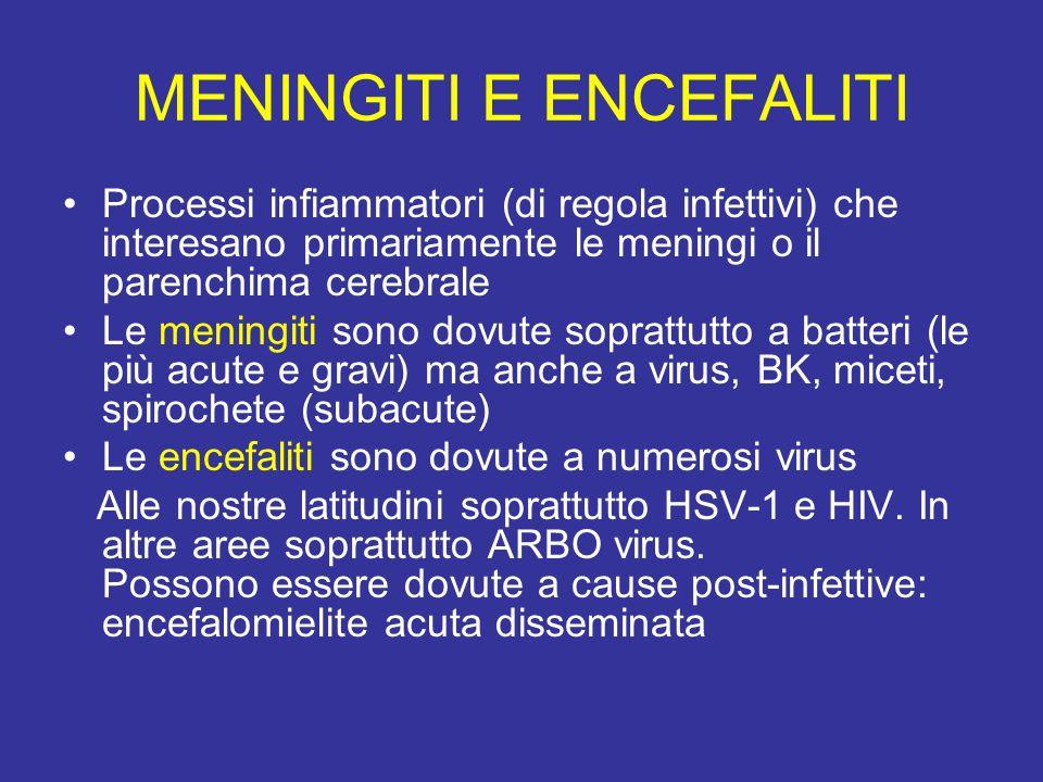 Meningite batterica : Definizione Processo patologico infiammatorio acuto a carico delle leptomeningi (aracnoide, spazio subaracnoideo e pia madre).Alcuni batteri riescono ad attraversare con relativa facilità la barriera emato-liquorale.