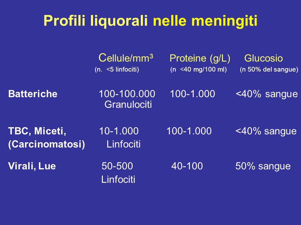 Meingiti batteriche : diagnosi batteriologica Liquor-coltura ed emocoltura Batterioscopica Ricerca antigeni batterici Ricerca DNA batterici con PCR