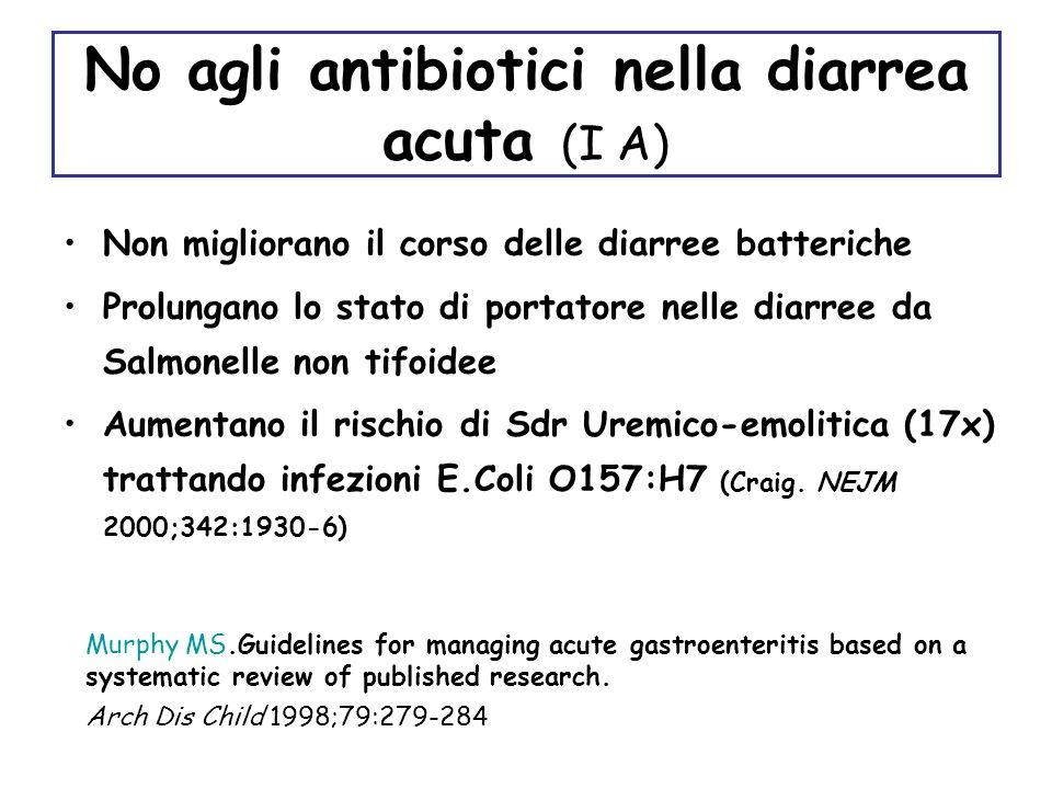 Quando pensare allantibiotico.Stato settico. –Salmonella in b.