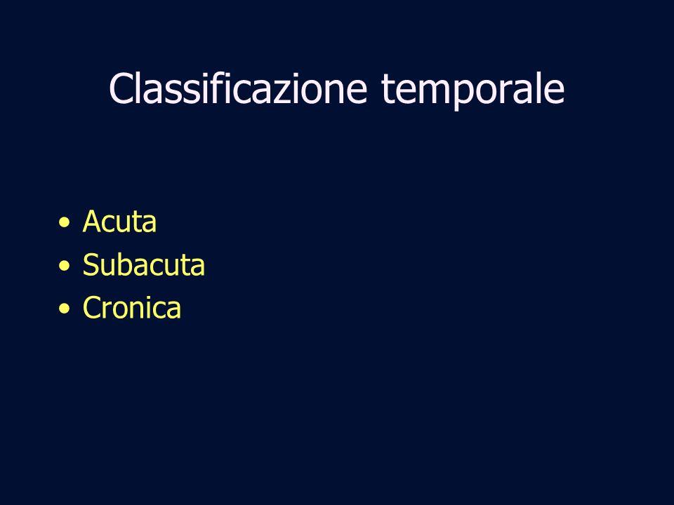 Classificazione temporale Acuta Subacuta Cronica