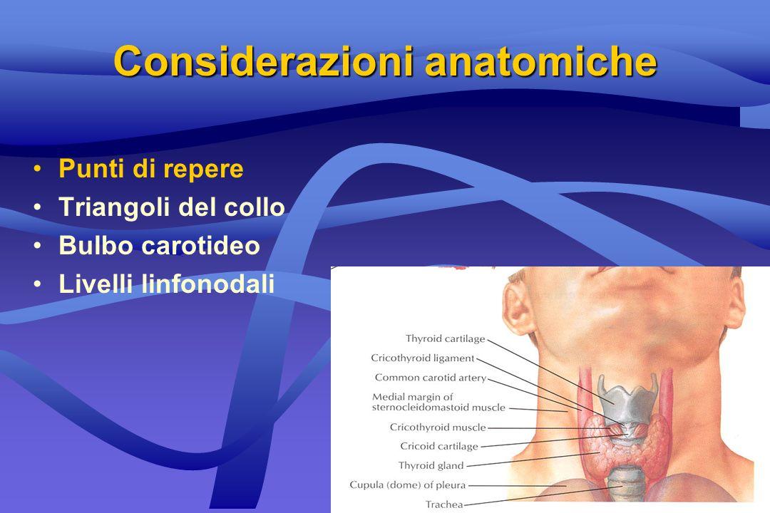 2nd cleft (95%)2nd cleft (95%) Massa liscia, fluttuante, sotto lo SCMMassa liscia, fluttuante, sotto lo SCM Eritema cutaneo e tensione se infezioneEritema cutaneo e tensione se infezione TrattamentoTrattamento –controllo dellinfezione –escissione chirurgica Cisti branchiale